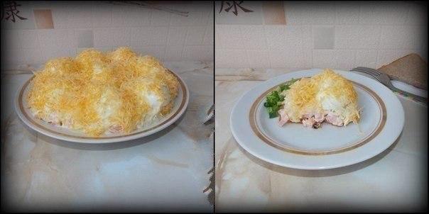 """Салат """"Сугроб"""" для семейного ужина"""
