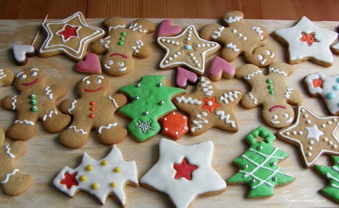 Новогоднее печенье своими руками в подарок
