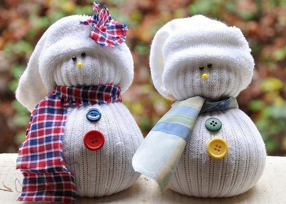 Снеговик из носков своими руками поэтапно