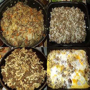 Три полноценных блюда за 45 минут из 1 кг фарша